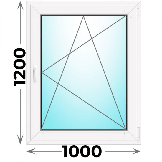 Готовое пластиковое окно одностворчатое 1000x1200 (Novotex)