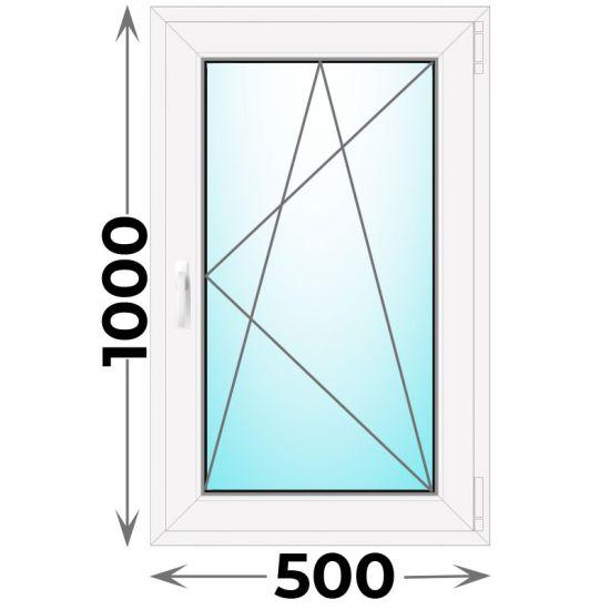 Готовое пластиковое окно одностворчатое 500x1000 (Novotex)