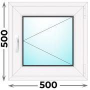 Готовое пластиковое окно одностворчатое 500x500 (Novotex)