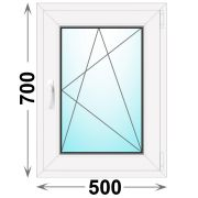 Готовое пластиковое окно одностворчатое 500x700 (Novotex)