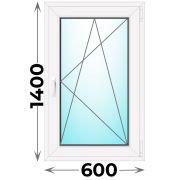 Готовое пластиковое окно одностворчатое 600x1400 (Novotex)