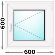 Готовое пластиковое окно одностворчатое 600x600 (KBE)