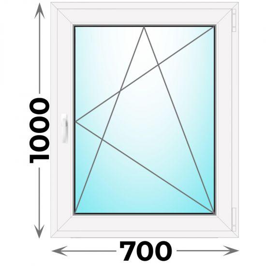 Готовое пластиковое окно одностворчатое 700x1000 (Novotex)