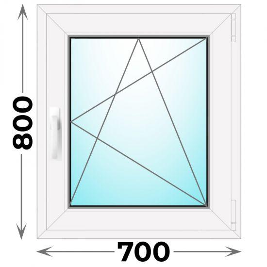 Готовое пластиковое окно одностворчатое 700x800 (Novotex)