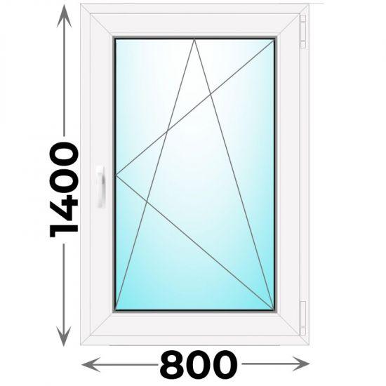 Готовое пластиковое окно одностворчатое 800x1400 (Novotex)
