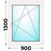 Готовое пластиковое окно одностворчатое 900x1300 (Novotex)
