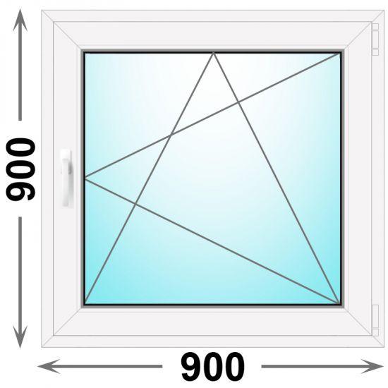 Готовое пластиковое окно одностворчатое 900x900 (Novotex)