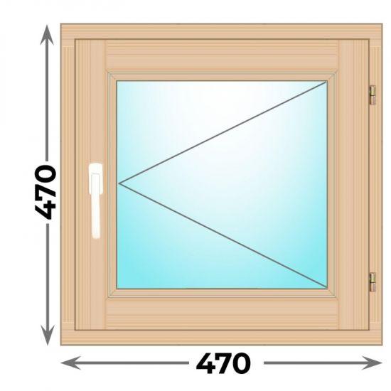 Готовое деревянное окно одностворчатое 470х470 (Окна Гарант)