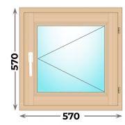 Готовое деревянное окно одностворчатое 570х570 (Окна Гарант)