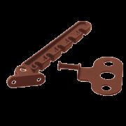 Фиксатор створки пластиковый коричневый (Гребенка)